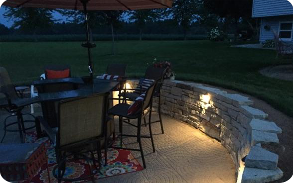 MK Electrical Services - Outdoor Patio Example